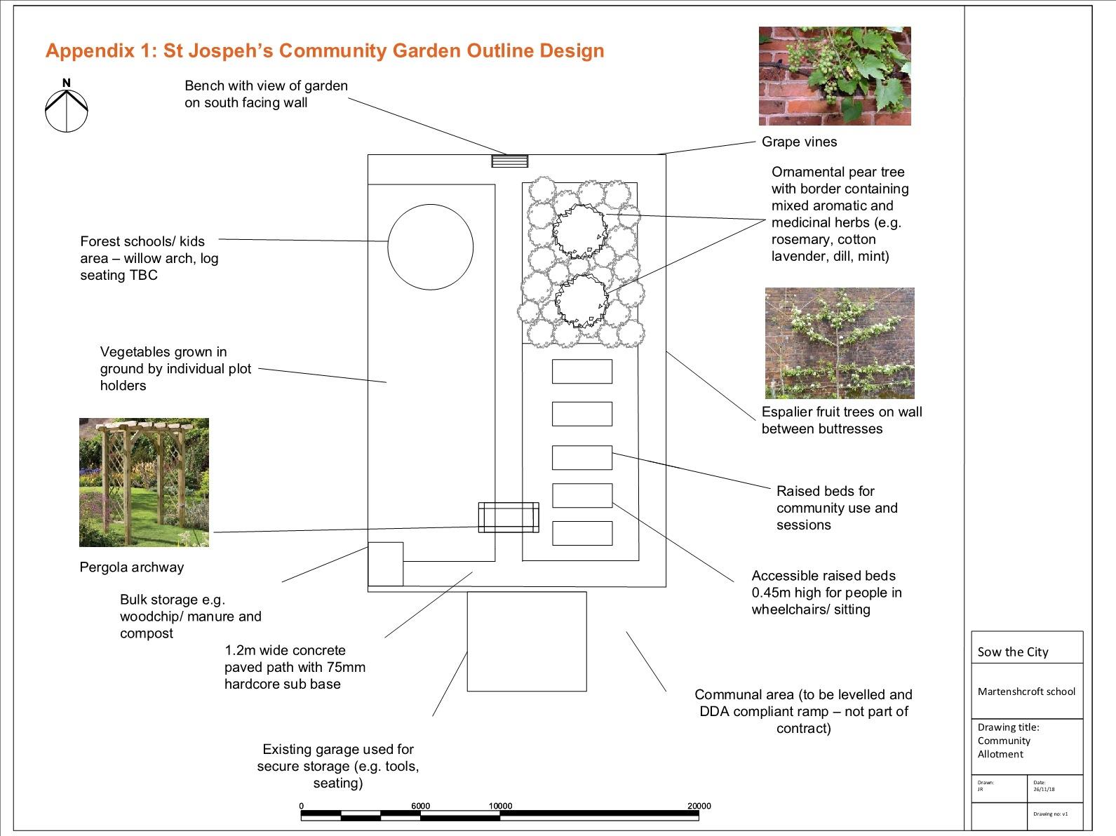 St Joseph's Allotment Outline Design